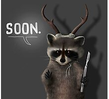 Soon Racoon Photographic Print