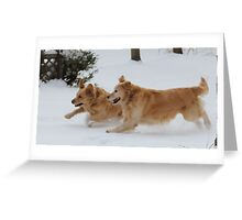 Yahoo! Snow IS FUN! Ozzy & Lotus Greeting Card