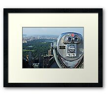 View on Central Park Framed Print