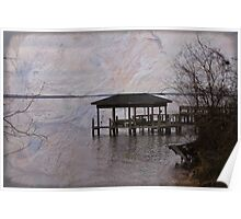 Chowan River Scene With Texture Poster