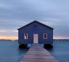 Crawley Boatshed at dawn by Yvonne Jetson
