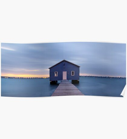 Crawley Boatshed at dawn Poster