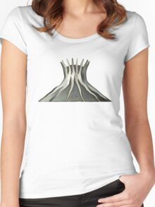 cathedral - landmark of Brasilia city Women's Fitted Scoop T-Shirt