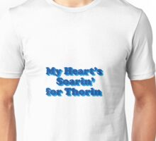 My Heart's Soarin' for Thorin - blue Unisex T-Shirt
