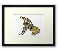 Egyptian demon - Bone Eater Framed Print