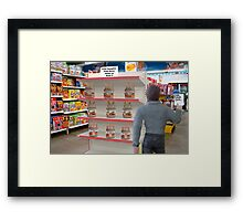 Barry hates when Maggie sends him to the store with a non-specific list! Framed Print