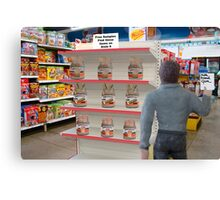 Barry hates when Maggie sends him to the store with a non-specific list! Canvas Print
