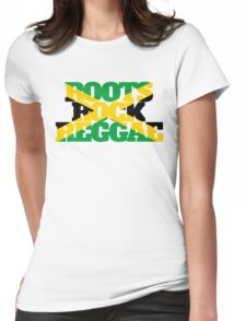 Roots Rock Reggae jamaica Womens Fitted T-Shirt