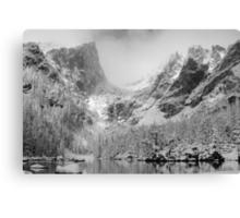 Dream Lake Monochrome Canvas Print