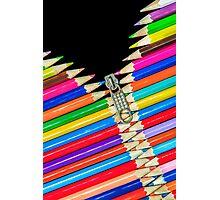 Open Zip Pencils Photographic Print