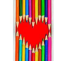 Heart Shape Pencils Photographic Print