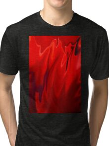 Abstract Poppy Tri-blend T-Shirt