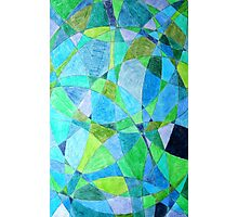Mosaic Rectangle Blue Green Photographic Print