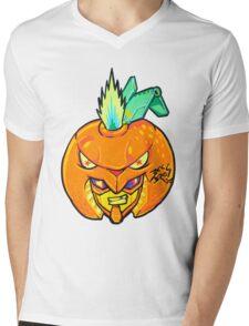 Fruity Hero // Orange Gunner Mens V-Neck T-Shirt