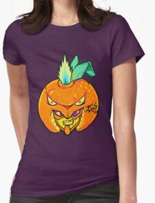 Fruity Hero // Orange Gunner Womens Fitted T-Shirt