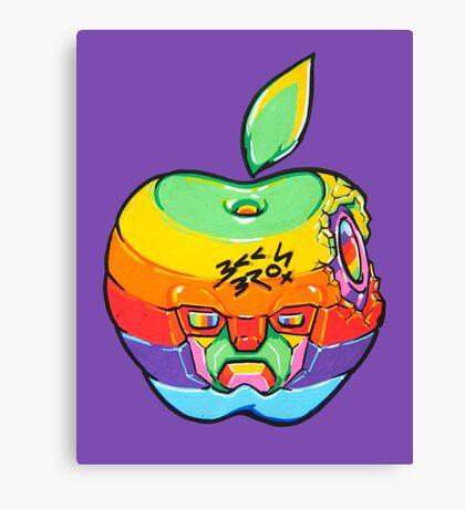 Fruity Hero // Apple Max Canvas Print