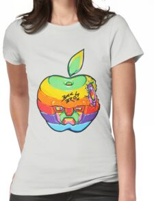 Fruity Hero // Apple Max Womens Fitted T-Shirt