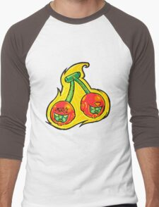Fruity Hero // Cherry Twin Men's Baseball ¾ T-Shirt