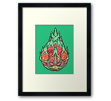 Fruity Hero // Electric Dragonfruit Framed Print