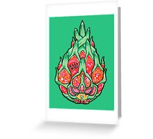 Fruity Hero // Electric Dragonfruit Greeting Card