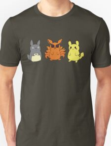 Chibi Totoro, Nine Tails and Pikachu T-Shirt
