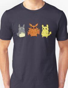 Chibi Totoro, Nine Tails and Pikachu T-Shirt