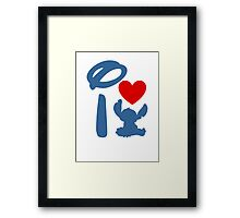 I Heart Stitch (Inverted) Framed Print