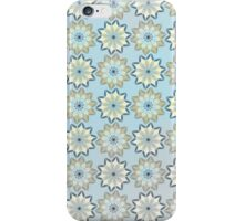 Vintage trendy gray yellow floral pattern  iPhone Case/Skin