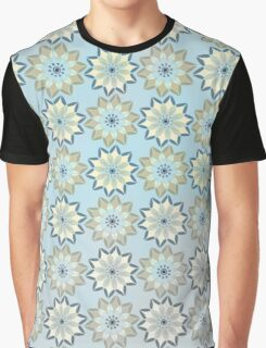Vintage trendy gray yellow floral pattern  Graphic T-Shirt