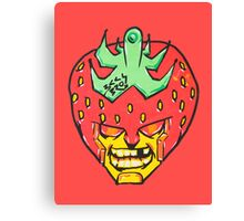 Fruity Hero // Strawberry Default Canvas Print