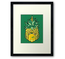 Fruity Hero // Pineapple Robo Framed Print