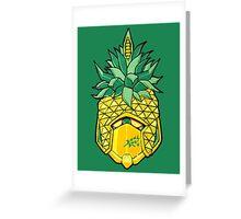 Fruity Hero // Pineapple Robo Greeting Card