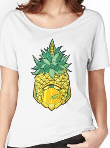 Fruity Hero // Pineapple Robo Women's Relaxed Fit T-Shirt