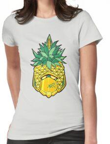 Fruity Hero // Pineapple Robo Womens Fitted T-Shirt