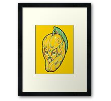 Fruity Hero // Buddha Mango Framed Print