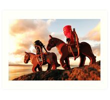 Pirates like bikes, ninjas like horses Art Print