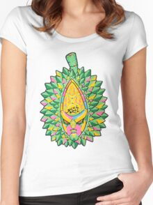 Fruity Hero // Durian Major Women's Fitted Scoop T-Shirt