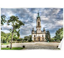 Hockenheim's Protestant Church (Germany) Poster