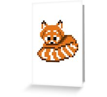 Red Panda Pixel Greeting Card