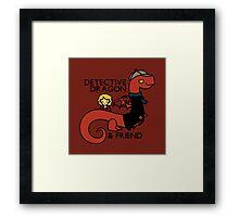 detective dragon & friend - sherlock hobbit parody Framed Print