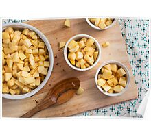 Apples in Baking Dishes Poster