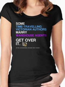 Some Victorians marry Warehouse agents Dark Version. Women's Fitted Scoop T-Shirt