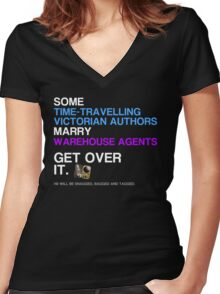 Some Victorians marry Warehouse agents Dark Version. Women's Fitted V-Neck T-Shirt