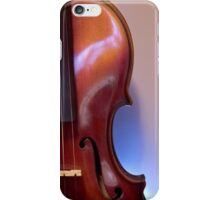 Four strings, a bridge and a f hole iPhone Case/Skin