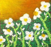 Daisies Soaking Up the Sun  by Sarah O'Neal