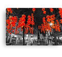 Chinese Lanterns (Selective colour) Canvas Print