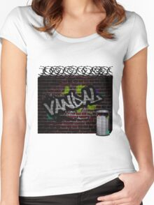 graffiti wall Women's Fitted Scoop T-Shirt