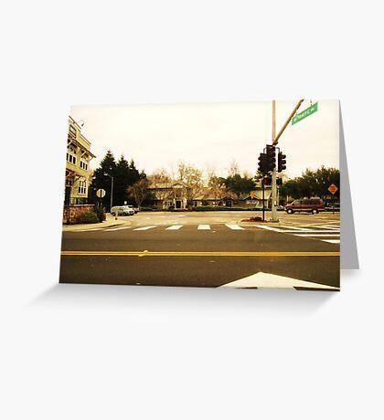 Traffic Way Greeting Card
