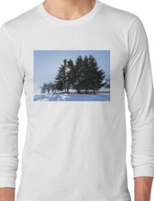 Cold, Calm and Clear - a Brilliant Winter Day High in the Mountains Long Sleeve T-Shirt
