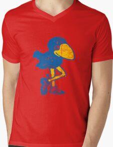 Vintage Jayhawk Mens V-Neck T-Shirt